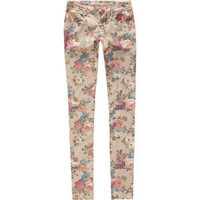 VANILLA STAR Vintage Floral Womens Skinny Pants 207840426 | Pants | Tillys.com