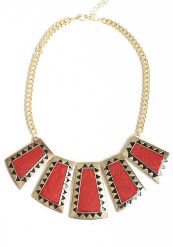 Rufous Collar Necklace - $26.00: ThreadSence, Women&#x27;s Indie &amp; Bohemian Clothing, Dresses, &amp; Accessories