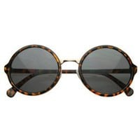 Amazon.com: Vintage Inspired Classic Round Circle Sunglasses w/ Metal Bridge: Sports & Outdoors