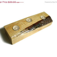 Ready to Ship SALE Wood Tea Light Candle Holder - Rustic Candle Holder - READY TO Ship