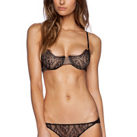 Only Hearts French Lace Underwire Bra in Black