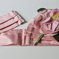 1950s Belt - Pink Flower Cinch
