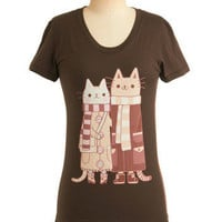 Happy Cat-rimony Tee | Mod Retro Vintage T-Shirts | ModCloth.com