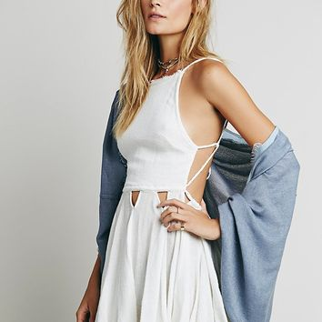 Free People Womens Live For Your Smile Dress - Ivory
