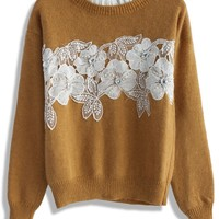 Delicate Angora Sweater in Tan
