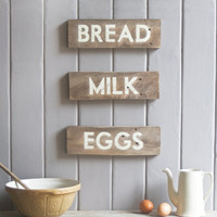 Rustic Grocers Signs . Set Of 3
