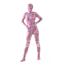 Halloween Full Body Fancy Dress Lycra Spandex Zentai Suits Flowers Pink Cosplay Costumes [L20120828] - 28.52 : Zentai, Sexy Lingerie, Zentai Suit, Chemise