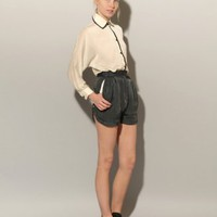 Champagne button down blouse [Sia2055] - &amp;#36;86 : Pixie Market, Fashion-Super-Market