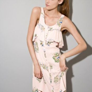 Pink landscape dress [Fik1844] - $91 : Pixie Market, Fashion-Super-Market