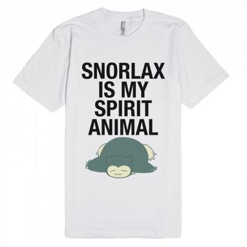 Snorlax is my Spirit Animal-Unisex White T-Shirt