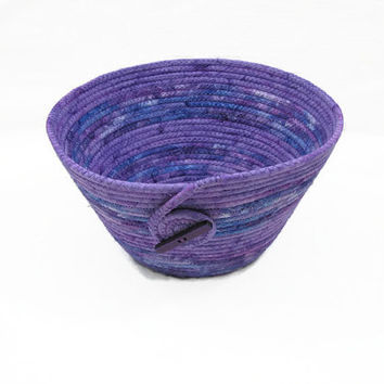 Purple Coiled Fabric Bowl, Basket