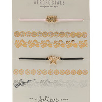 Aeropostale  Butterfly Cord Bracelet & Temporary Tattoos Multipack