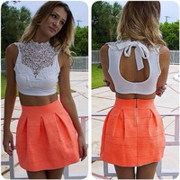 Joanie Lace Crop Top