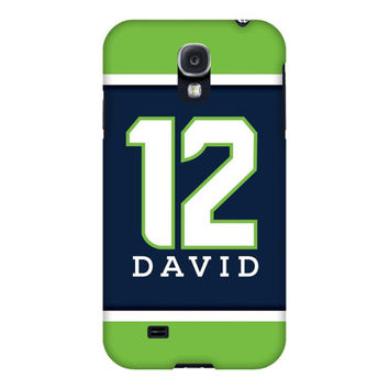12th Man Seattle Blue and Green iPhone or Samsung Galaxy Case, 12th Man Phone Case, Seattle Colors Phone Case, Football iPhone