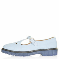 GRACIE T-Bar Geek Shoes - Light Blue