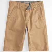 Charles And A Half Brushed Twill Mens Shorts Dark Khaki  In Sizes