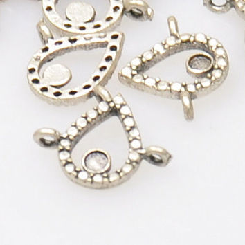 20 Pieces Silver Plated Mini Tulip Connector Charms, Silver Tulip Jewelry Conectors, Jewelry Making Supply, Jewelry Findings, Boho Jewelry
