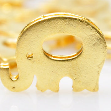 4 Pieces Matte Gold Elephant Spacer Charms, Matte Gold Bishop Charms, Jewelry Supply, Jewelry Drops, Jewelry Findings