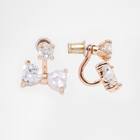 ASOS Bow Swing Earrings with Cubic Zirconia
