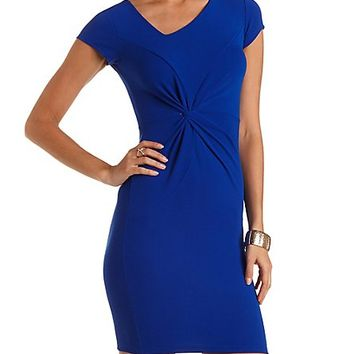 Knotted & Ruched Bodycon Dress by Charlotte Russe - Surf The Web