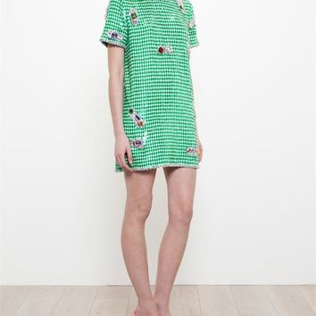 Sequinned T-Shirt Dress with Jewel Embellishment - ASHISH