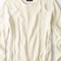 AEO Men's Cabled Crew Sweater