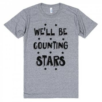 We'll Be Counting Stars-Unisex Athletic Grey T-Shirt