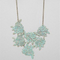 Burnt Gold/Turquoise Filigree Necklace