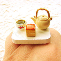 Tea Ring Green Tea Cake Food by SouZouCreations on Etsy