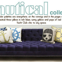 Modern Throw Pillows Nautical Collection