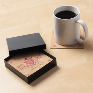 The Claddagh (Pink) Drink Coasters