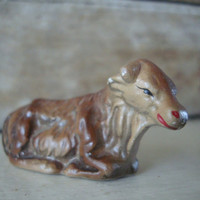 Vintage Nativity Cow  Primitive