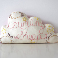 Cloud Cushion Handmade with Hand Embroidery