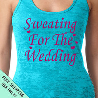 Sweating For The Wedding Burnout Tank Razor back heart dress top S - 2XL FREE SHIPPING