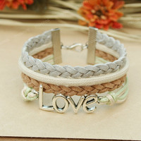 Love bracelet - unique bracelet for girlfriend, boyfriend, BFF