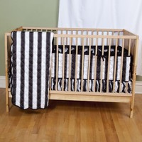 Black and White Stripe Baby Bedding | Crib Bedding by Sin in Linen