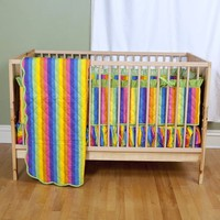Colorful Rainbow Baby Bedding - Baby Bedding - Sin In Linen