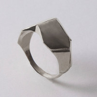 Parched Earth No.1 - Sterling Silver Ring , unisex ring , wedding ring , wedding band , mens ring