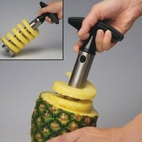 Amazon.com: Stainless Steel Pineapple Easy Slicer, Corer: Kitchen &amp; Dining