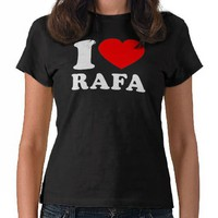 I Love Rafa -Dark Shirts from Zazzle.com