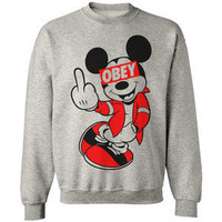 DRAKE YMCMB MICKEY MOUSE HANDS HAVE A NICE DAY SWEATSHIRT SWEATER OBEY S-XXXL
