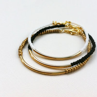 Gold Bar Bracelets friendship bracelets minimalist Jewelry SET OF 3