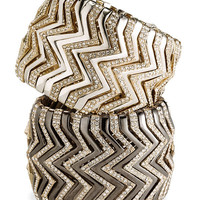 Cara Accessories Wide Chevron Stretch Bracelet | Nordstrom