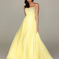Empire Sweetheart Floor-length Chiffon Best-Selling Prom Dress with Ruffles at Msdressy