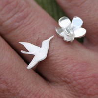 Hummingbird Ring  Made to order by thenay on Etsy
