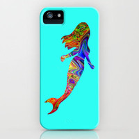 Psychedelic Mermaid iPhone Case by JT Digital Art  | Society6