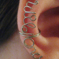 Custom Word Ear Cuff