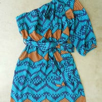 Indigo Artisan Ikat Dress [3048] - $36.00 : Vintage Inspired Clothing &amp; Affordable Fall Frocks, deloom | Modern. Vintage. Crafted.