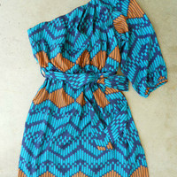 Indigo Artisan Ikat Dress [3048] - $36.00 : Vintage Inspired Clothing & Affordable Fall Frocks, deloom | Modern. Vintage. Crafted.