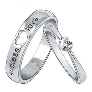 Gullei Trustmart : Customized Engravable Endless Love Matching Heart Wedding Couple Ring [GTM00278] - $80.00-Couple Gifts, Cool USB Drives, Stylish iPad/iPod/iPhone Cases & Home Decor Ideas